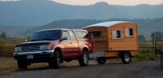 handmade wood camper