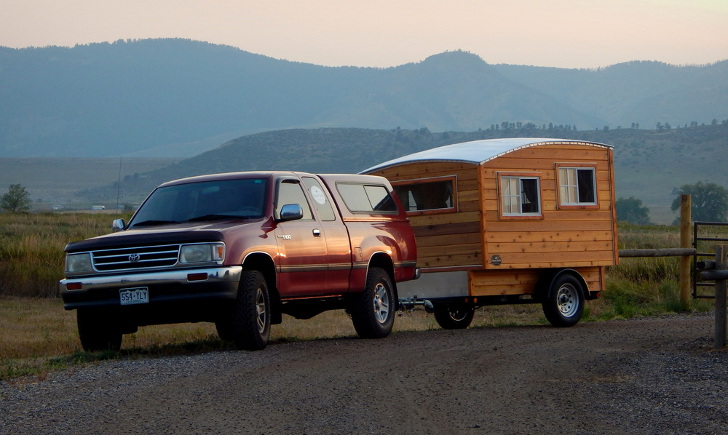 Handmade Wood Camper Inspired By 1960s Steinbeck Novel
