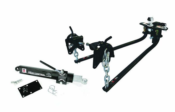A standard weight distribution hitch