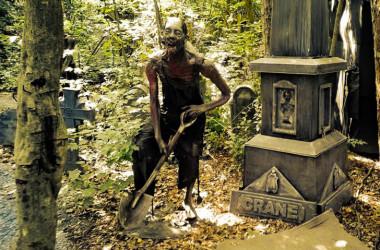 zombie prop in the woods