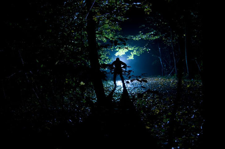 woods at night campground nightmare