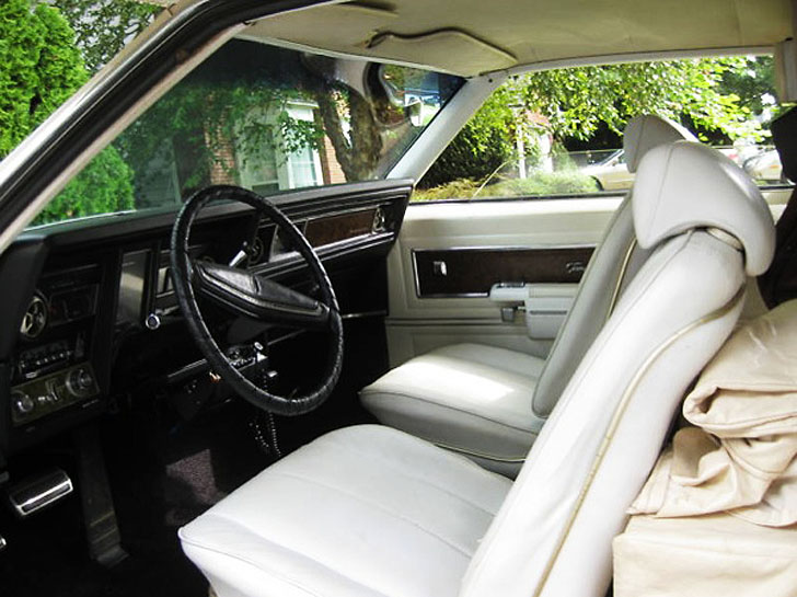 rich white leather seats