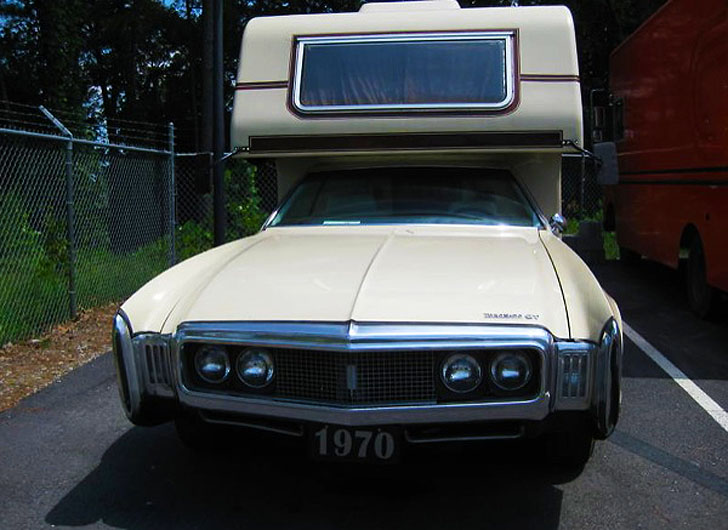 front view toronado straight on