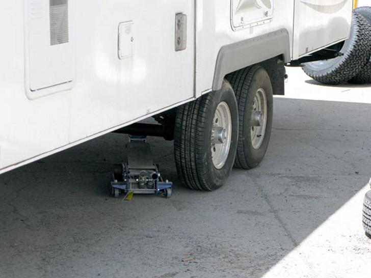 RV tire blowout