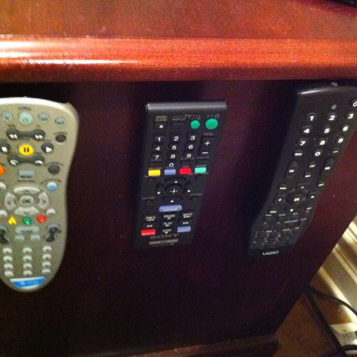 velcro on remotes
