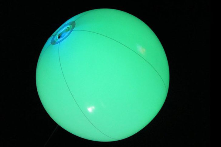 glowing beach ball