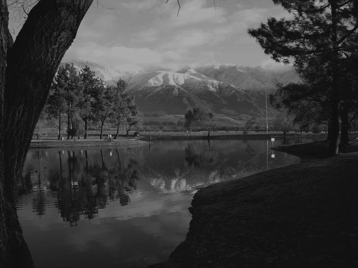 the beautiful mountain setting