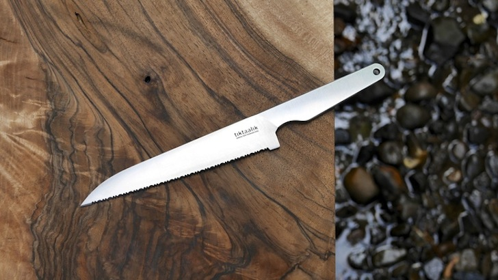 Serrated field knife