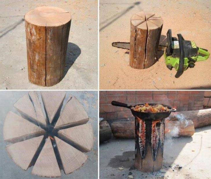 Make A Swedish Fire Torch For The Perfect Lazy Campfire