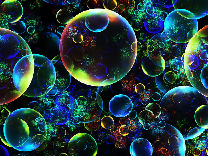 glowing bubbles