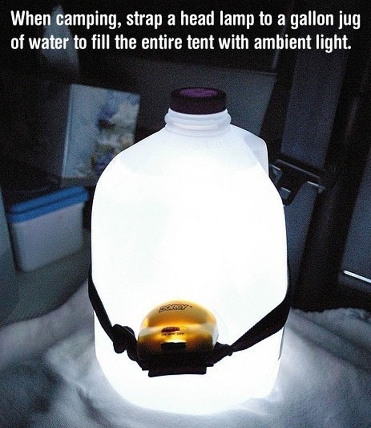 headlamp milk jug lantern