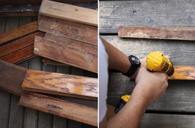 oak scraps for knife holder