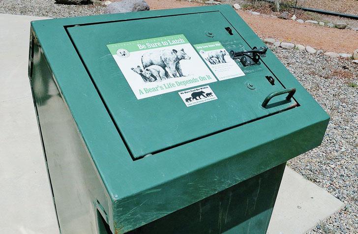 bear safe trash bin