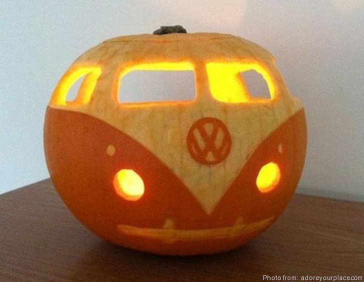 Camping inspired pumpkin carving templates
