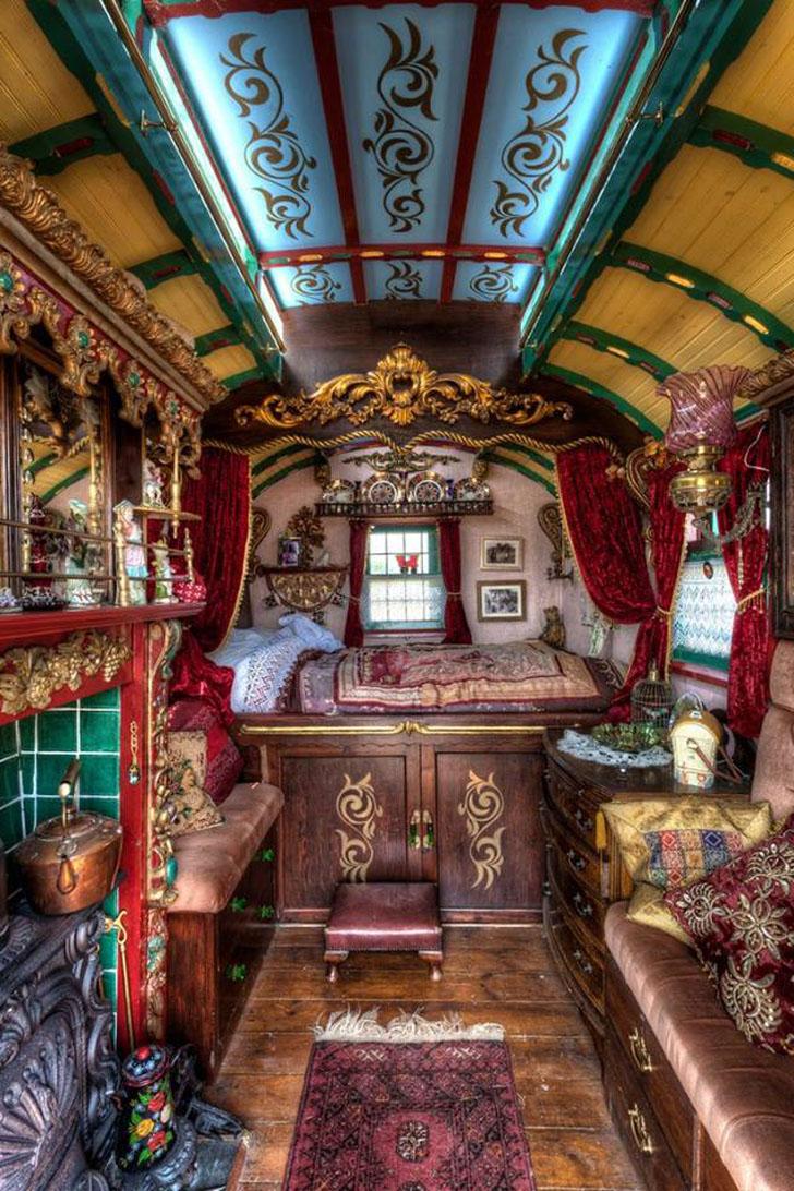 interior of gypsy truck