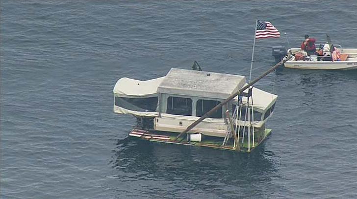 Adrift camper boat