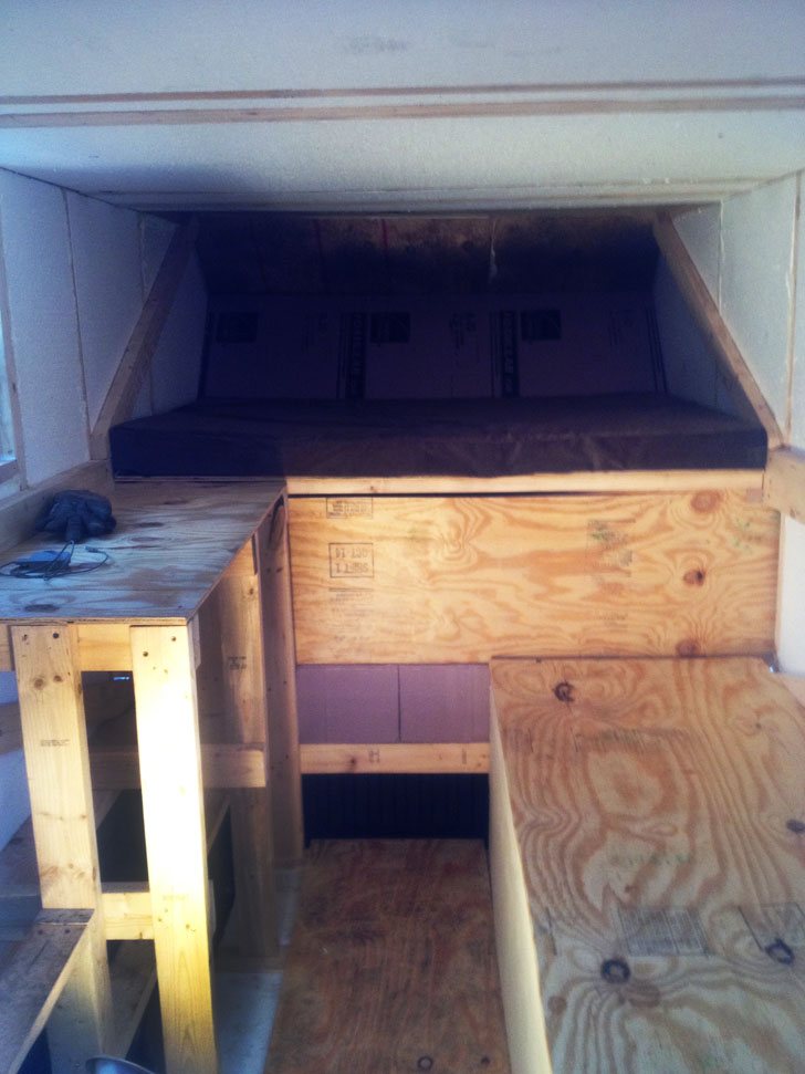 Basic Truck Top Camper Built From Lumber Yard Materials