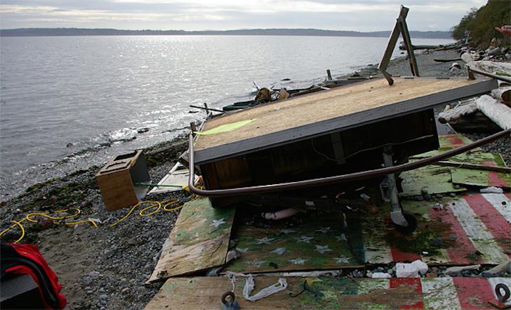 Boat debris