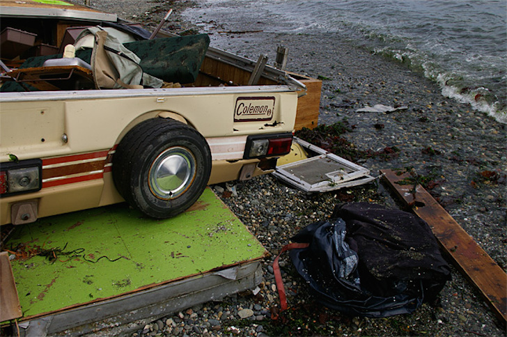 Broken camper boat