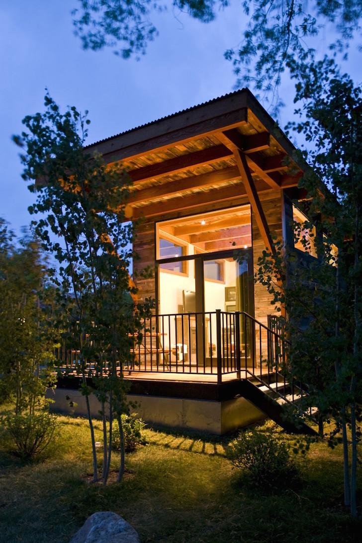 Exterior of RV park cabin