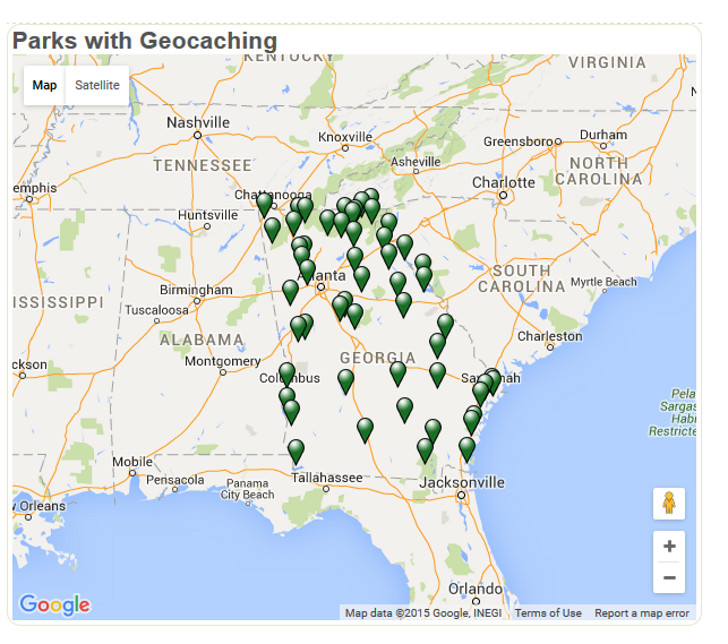 kid-friendly geocaching RV trip