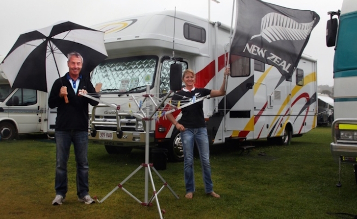 Noel and Pip Sutherland have travelled from Christchurch in New Zealand for the CMCA rally. Picture: Laurie Benson