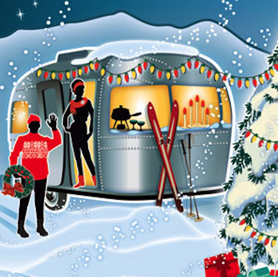 Adorable Travel Trailer Christmas Card