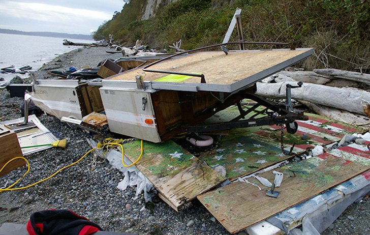 This Camper Boat Was Set Adrift In Puget Sound