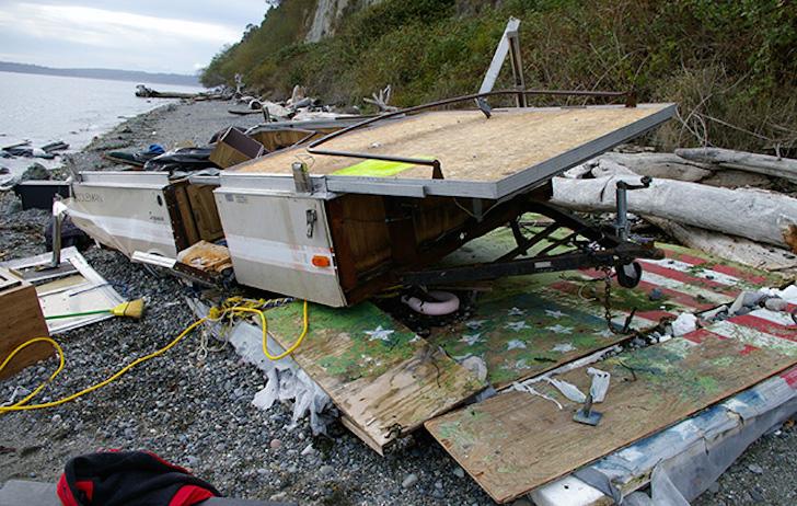 Tent camper boat