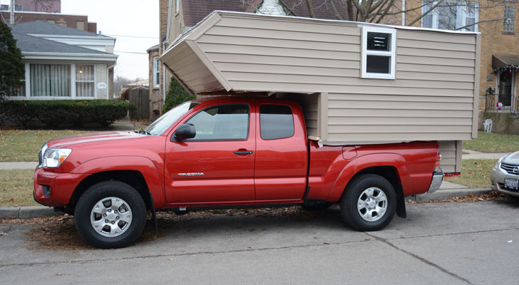 Basic Truck Top Camper Built From Lumber Yard Materials