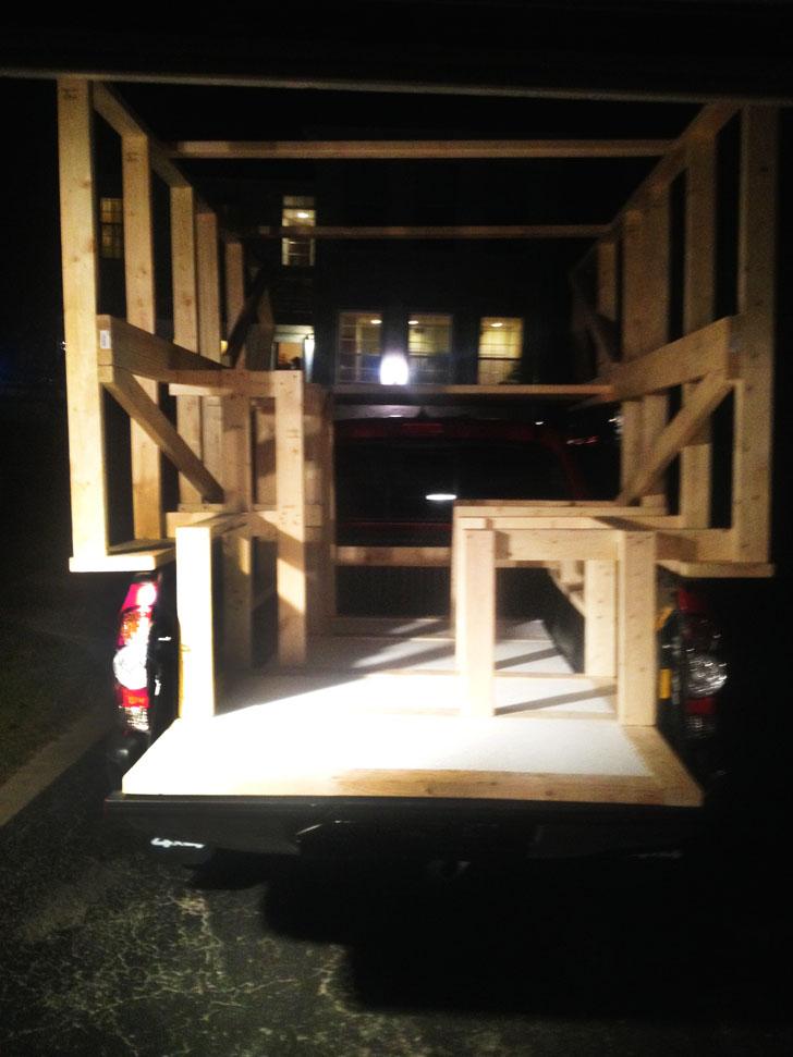 truck bed frame