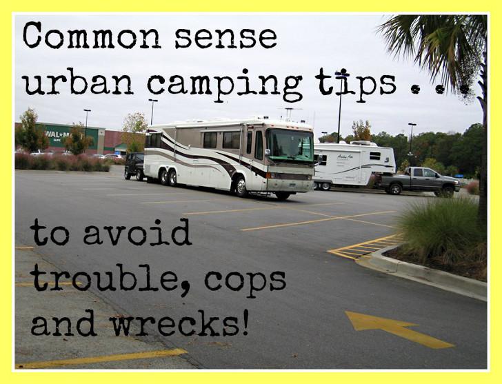 urban camping tips