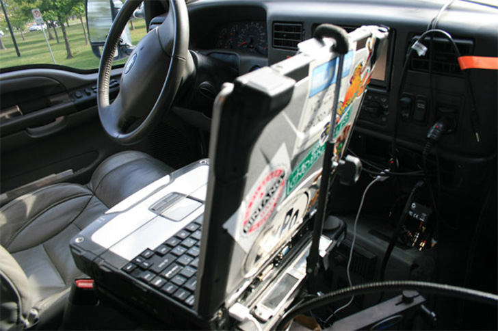 high tech cab driven by windows