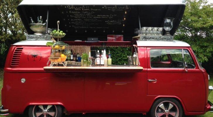 This Pop-Top Vintage Volkswagen Camper Van Is Now A Fabulous Bar