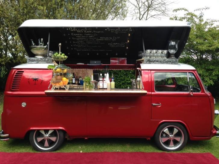 Vintage Volkswagen Camper Van Transformed Into Mobile Bar