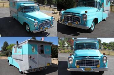 Vintage International Harvester Truck Camper Special Ordered In 1960