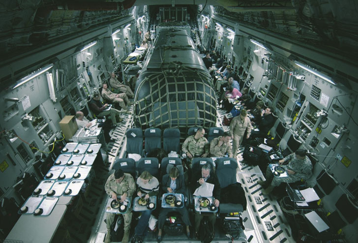 airstream in an airforce plane