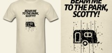 Funny RV Tee Shirt – Beam Me To The Park Scotty!