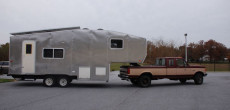 Green RV Made From Totally Revamped 2001 24-5P Fleetwood Prowler