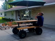 The World's First (And Fastest) Motorized Picnic Table Powered By 7 HP Engine