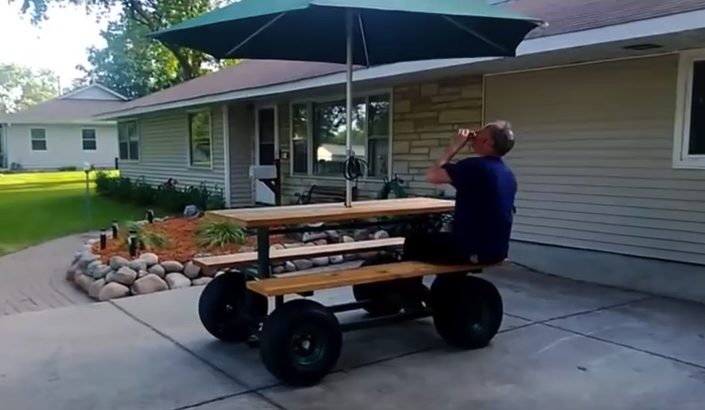 The World S First And Fastest Motorized Picnic Table