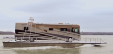 Turn Any Motorhome Into A Movable Houseboat – It's Just This Easy With The Rollerboat