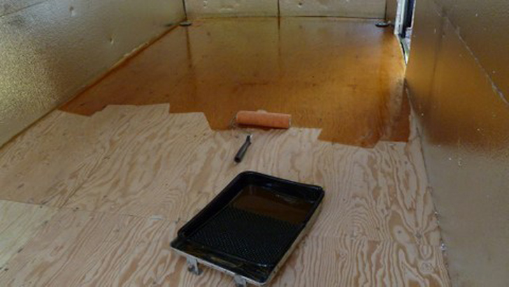 floor being stained
