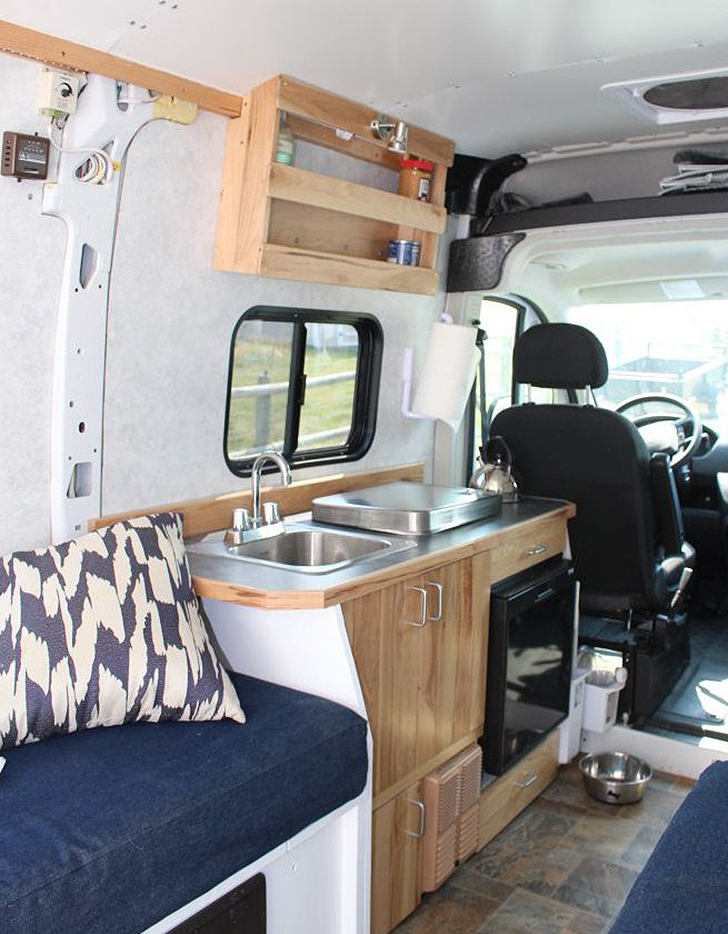 detailed walkthrough of converting a cargo van. Black Bedroom Furniture Sets. Home Design Ideas