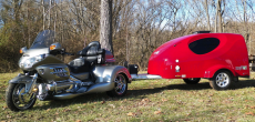 You Can Pull This Aerodynamic Trailer With Just A Motorcycle, But A Car Will Work Too