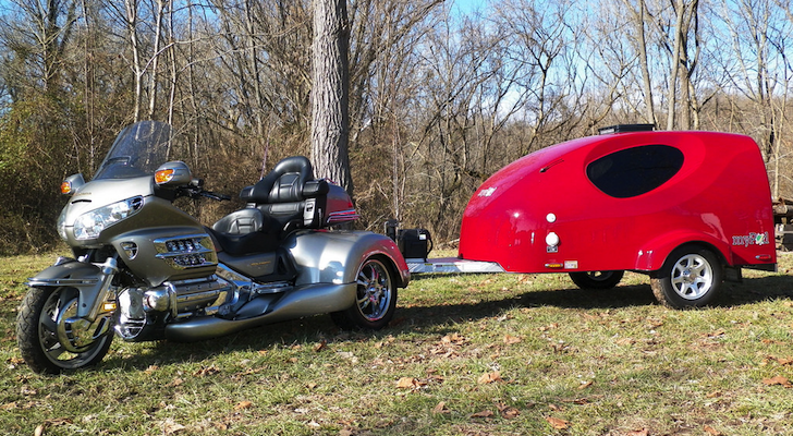You Can Pull This Aerodynamic Trailer With Just A Motorcycle – But A Car Will Work Too