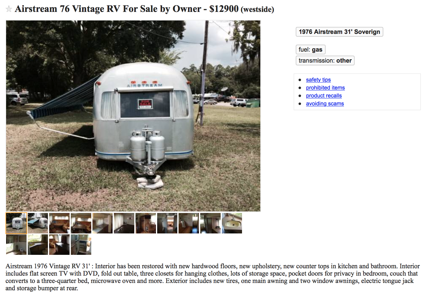 1976 airstream rv mods rv guides rv tips for 1976 airstream floor plans