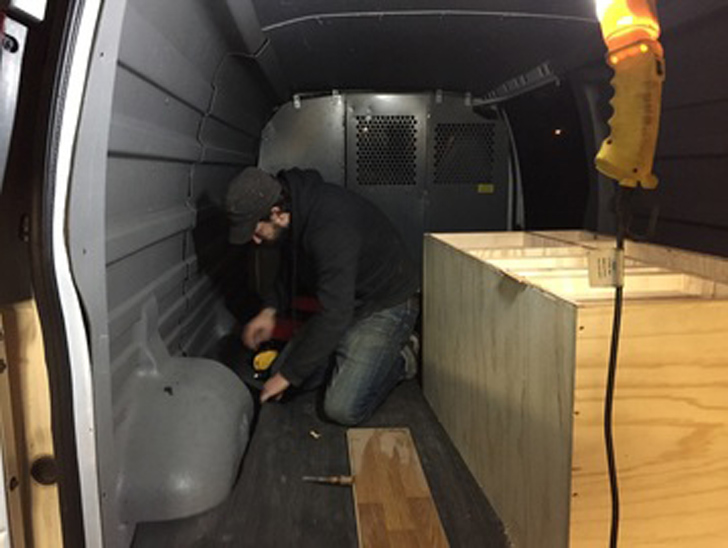building out the interior