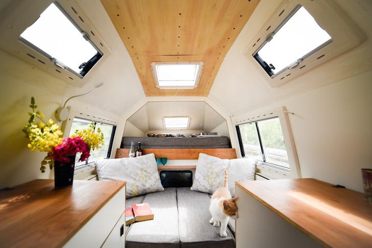 Coati Camper sleeping area