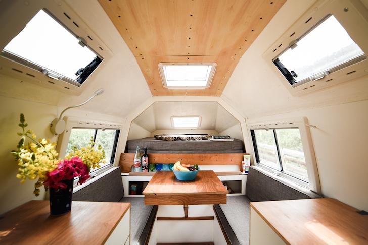 Interior of Coati Camper